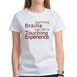 Women's T-shirt - Braille Touch