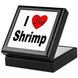 I Love Shrimp Keepsake Box