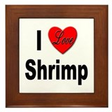 I Love Shrimp Framed Tile
