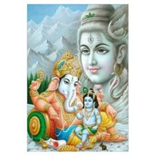 Ganesh and Krishna Print