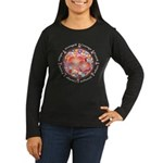 Breast Cancer Women's Long Sleeve Dark T-Shirt