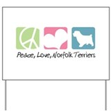 Peace, Love, Norfolk Terriers Yard Sign