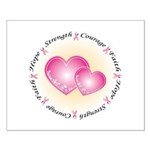 Pink Ribbon Small Poster