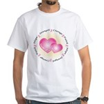 Pink Ribbon White T-Shirt