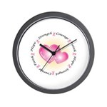 Pink Ribbon Wall Clock