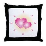 Pink Ribbon Throw Pillow