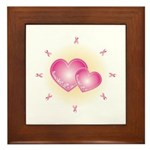 Pink Ribbon Framed Tile