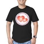 Pink Ribbon Men's Fitted T-Shirt (dark)