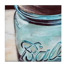 Ball Jar Tile Coaster By Redstreake