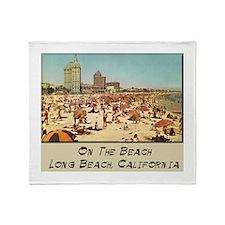 On The Beach Long Beach Throw Blanket