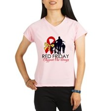 Red Fridays - Support Our Tro Performance Dry T-Sh