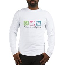 Peace, Love, Papillons Long Sleeve T-Shirt