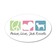 Peace, Love, Jack Russells 22x14 Oval Wall Peel