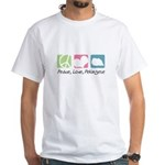 Peace, Love, Pekingese White T-Shirt