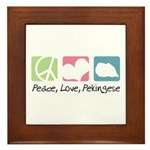 Peace, Love, Pekingese Framed Tile
