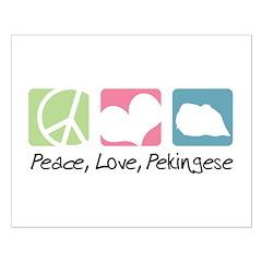 Peace, Love, Pekingese Small Poster