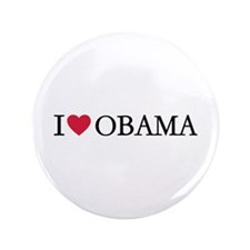 "I love Obama 3.5"" Button (100 pack)"