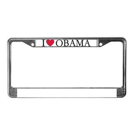 I love Obama License Plate Frame