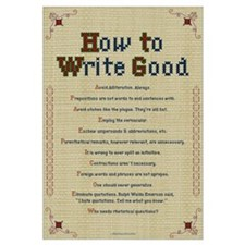 How to Write Good 11x17 , Embroidery Sampler