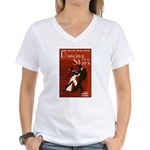 Retro Inspired DWTS Poster Women's V-Neck T-Shirt
