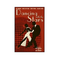 Retro Inspired DWTS Poster Rectangle Magnet (100 p