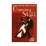 Retro Inspired DWTS Poster Postcards (Package of 8)