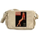 Beauty Parade Vintage Leggy Pin Up Messenger Bag