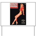 Beauty Parade Vintage Leggy Pin Up Yard Sign