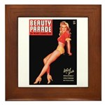 Beauty Parade Vintage Leggy Pin Up Framed Tile