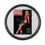 Beauty Parade Vintage Leggy Pin Up Large Wall Cloc