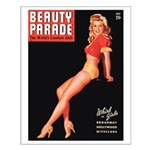 Beauty Parade Vintage Leggy Pin Up Small Poster
