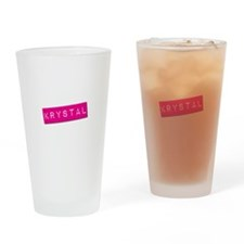 Krystal Punchtape Drinking Glass