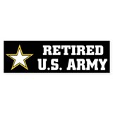 Retired U.S. Army  Bumper Sticker