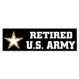 Retired U.S. Army Car Sticker
