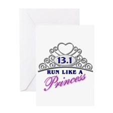 Run Like A Princess Greeting Card