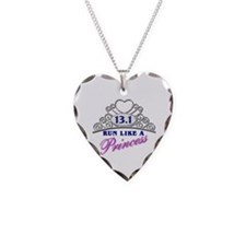 Run Like A Princess Necklace Heart Charm