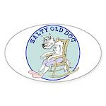 Salty Old Dog Sticker (Oval 50 pk)