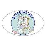 Salty Old Dog Sticker (Oval)