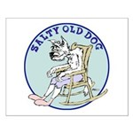 Salty Old Dog Small Poster