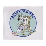 Salty Old Dog Throw Blanket