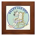 Salty Old Dog Framed Tile