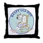 Salty Old Dog Throw Pillow