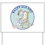 Salty Old Dog Yard Sign