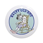 Salty Old Dog Ornament (Round)