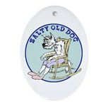 Salty Old Dog Ornament (Oval)