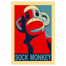Sock Monkey Hope wall art
