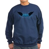 Vegan Blue Wings Sweatshirt