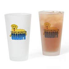 Golden Retriever Grandpa Drinking Glass