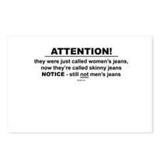 Still not men's jeans Postcards (Package of 8)