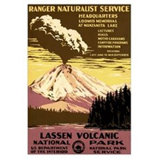 1930s Vintage Lassen Volcanic National Park Large